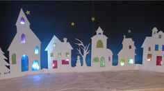 Village illuminé, Noel, DIY