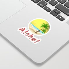 Aloha Summer Palm Trees Beach Vibe Laptop Sticker Stickers never lose their coolness. We use a kiss cut process for our vinyl stickers, meaning we can produce super-intricate cutouts that'll look rad on your laptops, phones and notebooks. Palm Trees Beach, Interior And Exterior, Interior Design, Aloha Hawaii, Inspire Others, Inspirational Gifts, Laptop Stickers, Holiday Outfits, Summer Vibes