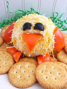 Spring Chick Cheeseball Easter Appetizer Recipe from This Mama Loves