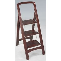 Attirant Mahogany 2 Or 3 Step Ladder For Easier Closet Access