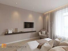 Фото: Дизайн интерьера спальни - Интерьер однокомнатной квартиры в современном стиле