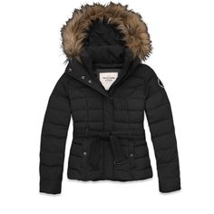 puffy coat in Olive