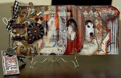 Scrapperlicious: Woof Mini Album, acrylic word album, mini album, scrapbook, pet, Clear Scraps