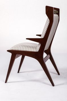 Vito Latis; Stained Oak Armchair, 1950.