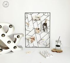 A wall organizer Memo board is an indispensable device in the workplace of a successful designer, photographer, and any creative person actually. It helps keeping a workspace clean and all right, give inspiration and remind you about deadline at the right time. *****FREE EXPRESS Shipping in USA & Europe! (DHL max. 3-5 days)***** *****Attention to buyers from Canada and Europe. The price does not include customs duties and import taxes. Buyers are responsible for any customs and import taxes that Metal Bird Wall Art, Metal Wall Letters, Letter Wall Art, Metal Wall Decor, Origami, Kraft Packaging, Decorative Panels, Wall Organization, Home Decor Signs