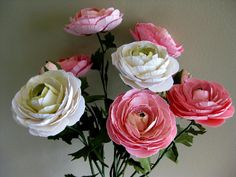 Handmade Paper Ranunculus Wedding Backdrop or by RosyPaperPosies
