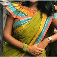 Top Beautiful Saree Blouse Designs - The Handmade Crafts New Saree Blouse Designs, Saree Jacket Designs, Simple Blouse Designs, Stylish Blouse Design, Sari Blouse, Dress Designs, Floral Blouse, Designer Blouse Patterns, Blouse Models