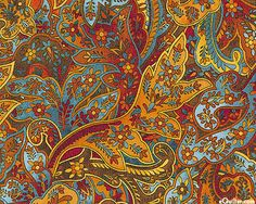 Shades of the Season 5 - Harvest Paisley - Copper - eQuilter.com