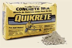 Concrete sold in sacks is an American innovation that delivers all the dry ingredients mixed in the right proportions. Just add water. Use it for small projects, like pouring deck footings.| @quikrete