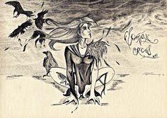 Žena - havran