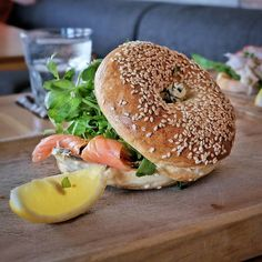 #Bali @watercressbali #ubud also served their all day breakfast menu like thisSmoked Salmon & Cream Cheese Bagel(80K) served with dill cream cheese watercress caper and lemon. The verdict is like always it is really pampering my appetite.