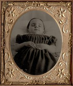 A Sweet but Sad Post Mortem Tintype of a Small Girl