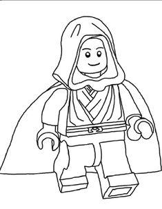 Lego Coloring Pages Obi Wankenobi Check More At Coloringareas