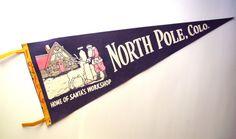 Vintage 1966 North Pole Colorado Souvenir Felt by PoorLittleRobin, $10.00