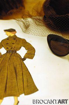 Vintage fashion designer kit #Brocantart #Brocantage