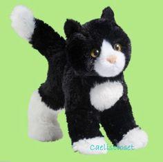 mini cat and mouse stuffed animals   Douglas Plush Snippy BLACK and WHITE CAT Stuffed Tuxedo Kitten Cuddle ...