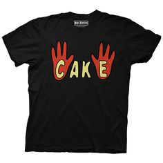 Bob's Burgers Cake Theater Show Adult Shirt (Large, Black)