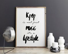 New to StyleScoutDesign on Etsy: Kpop Quote Inspirational Quote Exo poster btskpop bigbang seventeen kpop infinite print (5.44 USD)