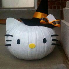 Hello Kitty pumpkin ;)