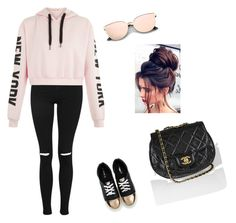 """""""Look dia -a  - dia"""" by alicee-oliveira on Polyvore featuring Topshop and Chanel"""