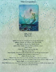 Elemental Magick | Water - Correspondences