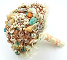 Seashell Bouquet Beach Wedding By TheJilleryBox