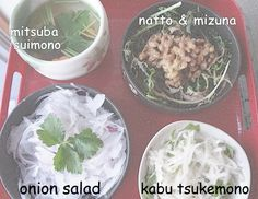 4 side dishes for a Japanese meal