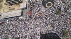 When the MSM report protests, they usually leave out massive ones like this for freedom - Francisco De Miranda. Contra la represión y la violencia, Venezuela