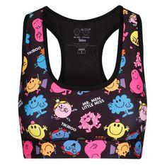 6751ef6de9007 Mr Men & Little Miss Mixed Up Sports Bra #Activewear #Gymwear  #FitnessLeggings