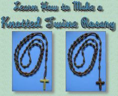 Illustrated Guide to making rosaries and scapulars, in the service of Our Lady. Make your first rosary. If you have never made a rosary, we ll show you how. Cord, chain, wire-wrap styles. Brown Green Red Scapulars. Support the Missions and the Military.