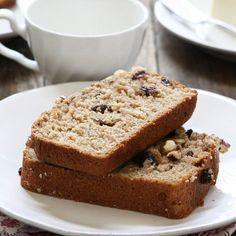 Applesauce adds moistness to this cinnamon-spiced quick bread. Serve it at breakfast time or as a mid-afternoon snack. Photo credit: Katie Goodman from Good Life Eats.