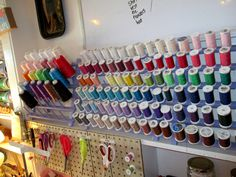 Sewing room organization -- Thread storage