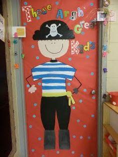 Speech therapy bulletin board or door theme. /ar/ Pirate theme for classroom Classroom Door, Classroom Displays, School Classroom, Classroom Themes, School Fun, Classroom Helpers, Dream School, Teacher Helper, Pirate Bulletin Boards