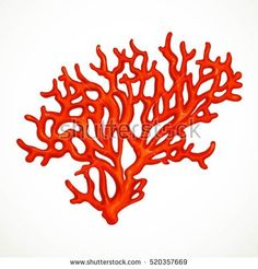 Red corals sea life object isolated on white background Best Picture For Sealife body adornment For Your Taste You are looking for something, and it is going to tell you exactly what you are looking f Arte Coral, Coral Art, Coral Tattoo, Coral Drawing, Sea Plants, Coral Pattern, Body Adornment, Sea Art, Mermaid Art
