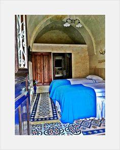 Cappadocia Turkey Beautiful hotels  Blue, mosaic, sinasos Mustafapasa Urgup