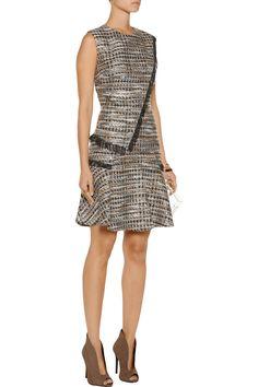 RaoulEllery metallic fringed tweed mini dress