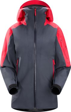 Breathable Gore Tex Jacket With Helmet Compatible Stormhood And A Slide N Loc Snap System Links The Integrated Powder Skirt To Pants In Deep Snow