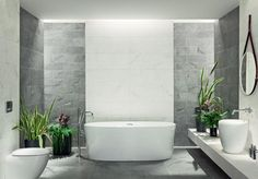 Organic matt in your interior from White and gray tiles in one composition. Warm Colors, Vivid Colors, Style Deco, Grey Tiles, Modern Bathroom, Bathroom Bath, Source Of Inspiration, Three Dimensional, Color Mixing