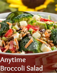 Anytime Broccoli Salad - We used non-fat Greek yogurt and fresh veggies to make this healthier version of broccoli salad. It's really, really, really good!