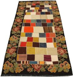 Handwoven Patchwork Kilim Rug 8.8 x 4.1  feet by ANATOLIANRUGS