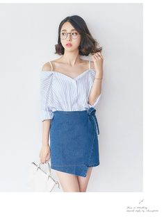 Korean fashion strapless shirt - AddOneClothing - 1