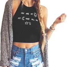 JUST IN  You are my Sun☀️Crop Top Shirt✌️ JUST IN  You are my Sun☀️ Crop Top Black Shirt . ✌️* NWT*  Perfect for summer ! Tops Crop Tops