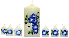 one stroke painted candles   One Stroke Painting - Gallery Picture