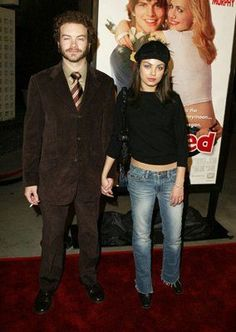 """Danny Masterson and Mila Kunis during """"Just Married"""" Los Angeles Premiere at Pacific Cinerama Dome in Hollywood, California, United States. Get premium, high resolution news photos at Getty Images Mila Kunis, Cute Couple Halloween Costumes, Bonnie And Clyde Halloween Costume, 70 Show, Danny, Bonnie N Clyde, Best Shows Ever, Movies Showing, Actors & Actresses"""