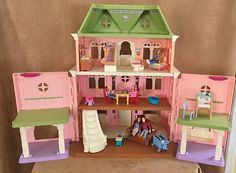 Fisher Price Loving Family Grand Mansion Dollhouse Victorian Doll Furniture Lot #FisherPrice