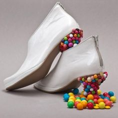 Wierd but FUN...Candy Filled Shoes = Wacky Willy Wonka Ware