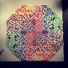 Colorful hama perler bead design by aslaugsvava - Original pattern by Liselotte: https://www.pinterest.com/pin/374291419001118204/