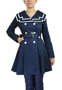 Looks like a sailor girl outfit put is actually a trench! Apply red lips and you're set to go!