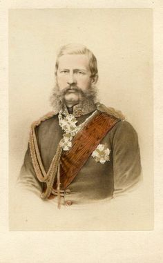 Prince Friedrich Karl of Prussia (1828-1885) was   a warrior prince of the House of Hohenzollern.  He married Princess Maria Anna of Anhault -Dessau.  He was allegedly grumpy about his wife producing four daughters before the birth of his son and heir,  Prince Friedrich Leopold von Preuben.
