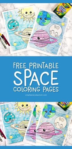 Free Printable Space Coloring Pages For Kids - Mary Wilcox Memorial Library - Free Printable Space Coloring Pages For Kids Space Activities For Kids Outer Space Crafts For Kids, Space Theme Preschool, Space Activities For Kids, Kindergarten Activities, Planets Preschool, Planets Activities, Preschool Science, Science Activities, Science Crafts